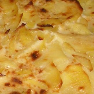 Zapečené brambory s masem,recept
