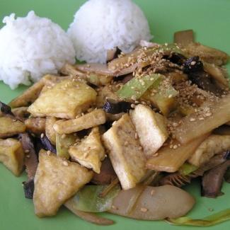 Tofu chung šao s bambusovými výhonky,recept