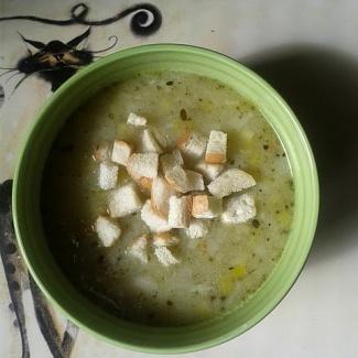Pórková polévka,recept