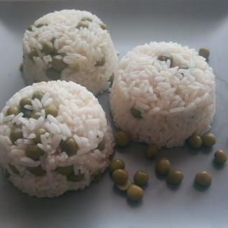 Hrášková rýže,recept